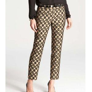 Ann Taylor Metallic Maven Leopard Jacquard pants